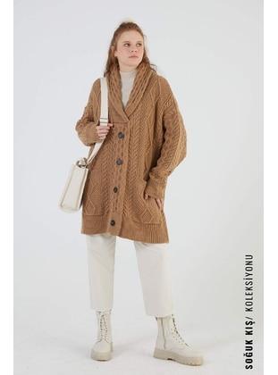 Camel - Knit Cardigans