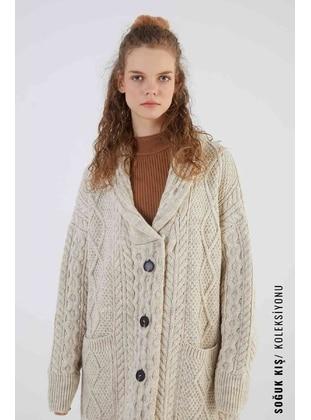Ecru - Knit Cardigans