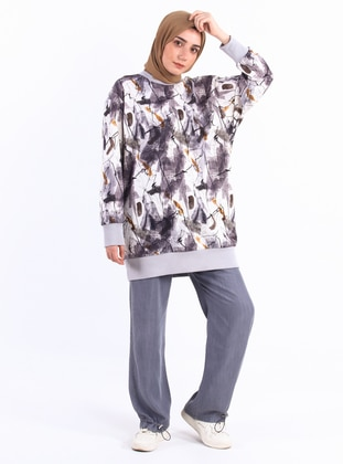 Crew neck - Multi - Gray - Sweat-shirt