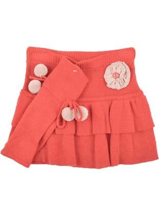 Orange - Girls` Skirt