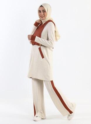 Ecru - Unlined - Suit