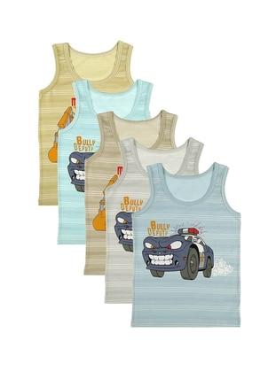 Multi - Crew neck - Unlined - Multi - Kids Underwear - Donella