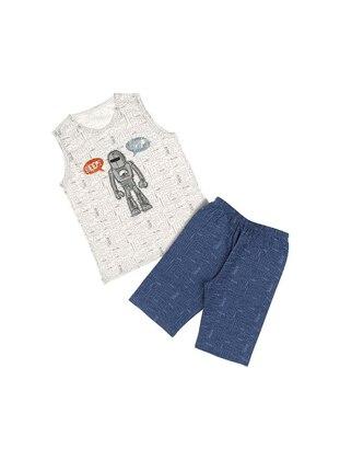 Multi - Crew neck - Unlined - Cream - Boys` Pyjamas