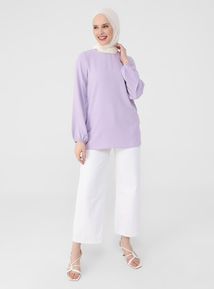 Lilac - Crew neck - Blouses