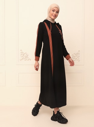 Black - Unlined - Modest Evening Dress