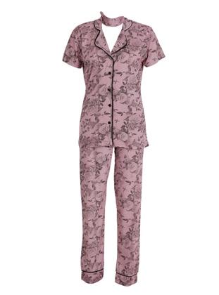 Lilac - Crew neck - Pyjama Set