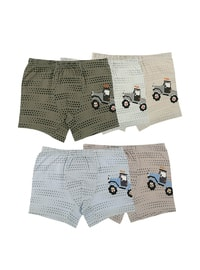 Multi - Crew neck - Unlined - Kids Underwear