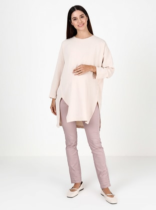 Pink - Unlined - Maternity Pants