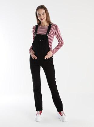 Black - Unlined - Maternity Pants