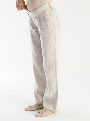 Beige - Maternity Pants