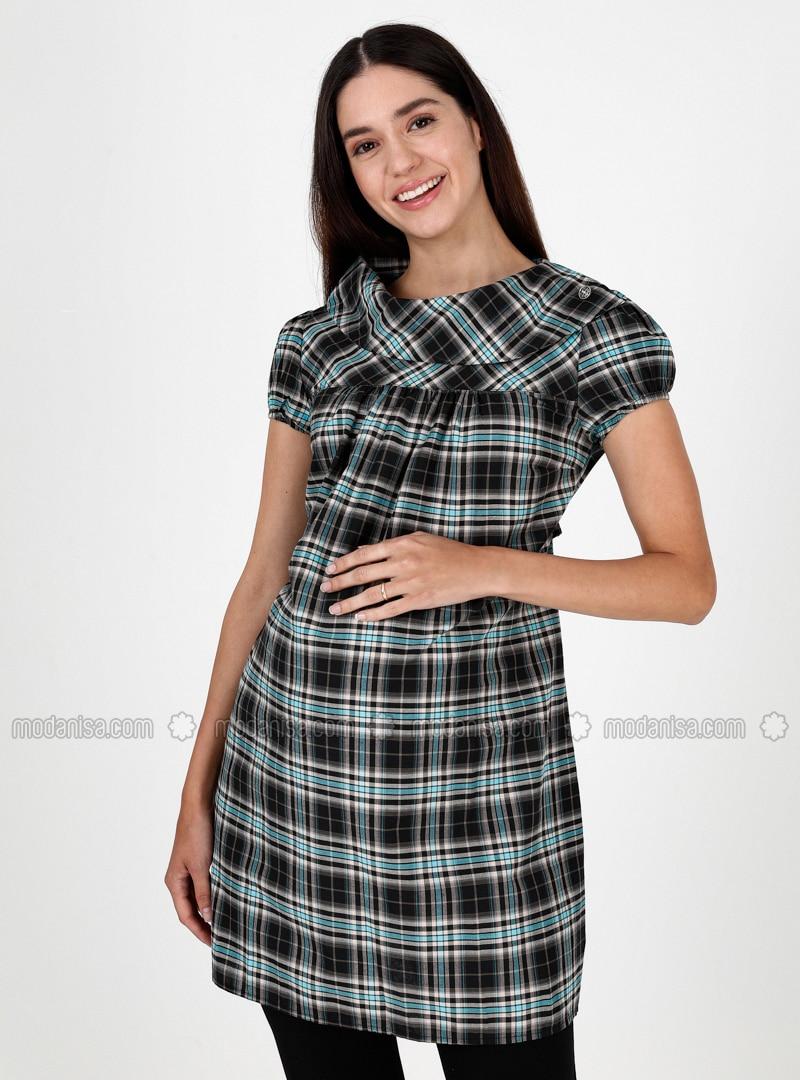Black - Crew neck - Maternity Tunic / T-Shirt