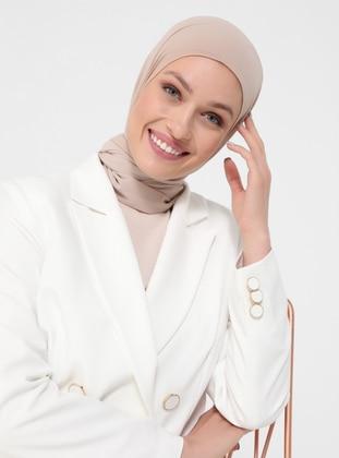White - Ecru - Fully Lined - Shawl Collar - Jacket - Refka