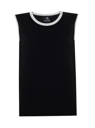 Black - Crew neck - Unlined - Knit Tunics