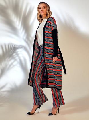 Coral - Jacquard - Knit Pants - ROHS FASHİON