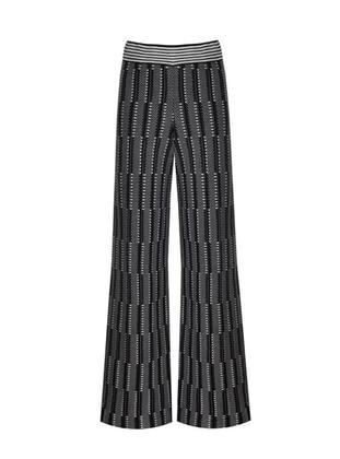 Black - Jacquard - Knit Pants - ROHS FASHİON