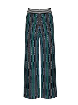Green - Jacquard - Knit Pants - ROHS FASHİON