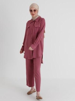 Dusty Rose - Unlined - Suit - Demirler