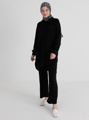 Black - Unlined - Suit - Demirler