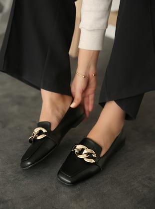Black - Flat - Flat Shoes - Zenneshoes