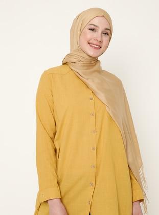 Gold - Printed - Shawl