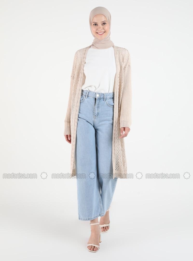 Beige - Plus Size Cardigans
