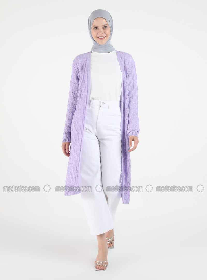 Lilac - Plus Size Cardigans