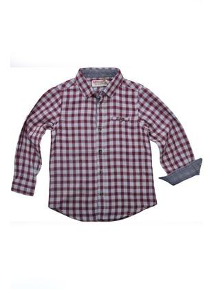 Maroon - Boys` Shirt - Silversun