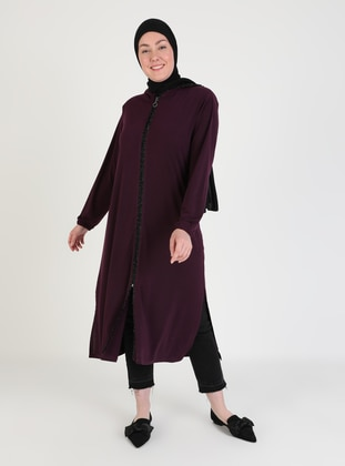 Plum - Unlined - Plus Size Coat
