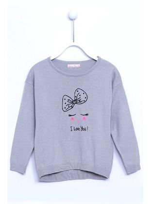 Gray - Girls` Pullovers - Silversun