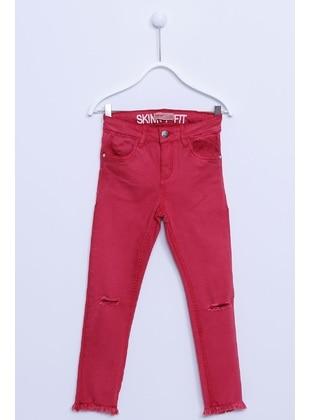 Red - Girls` Pants - Silversun