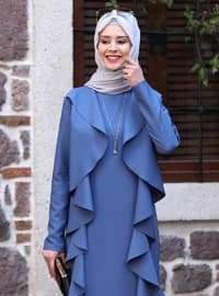 Unlined - Blue - Crew neck - Evening Suit