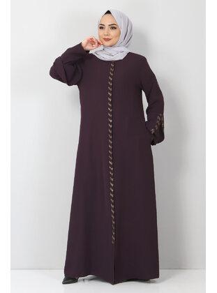 Plum - Plus Size Abaya