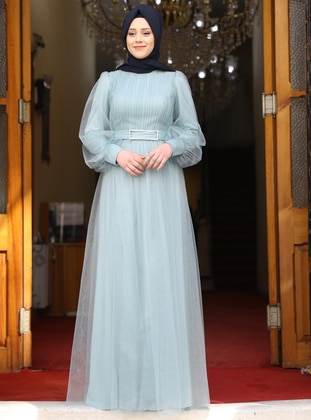 Baby Blue - Modest Evening Dress