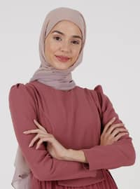 Dusty Rose - Crew neck - Fully Lined - Modest Dress
