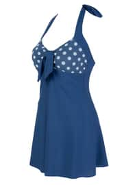 Navy Blue - Multi - Unlined - Half Covered Switsuits