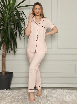 Powder - Shawl Collar - Pyjama Set