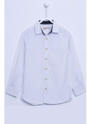 White - Boys` Shirt - Silversun
