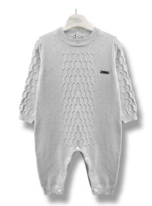 Crew neck - Unlined - Gray - Baby Sleepsuit