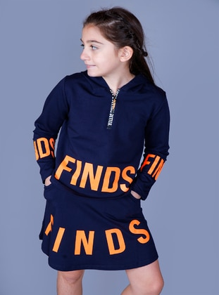 Navy Blue - Girls` Suit