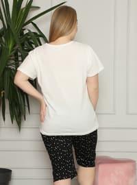 White - Multi - Plus Size Pyjamas