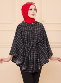Black - Unlined - Poncho