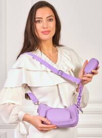 Purple - Satchel - Shoulder Bags