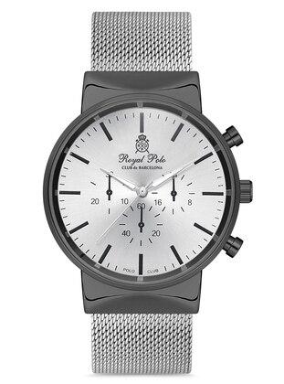 Silver tone - Black - Watch