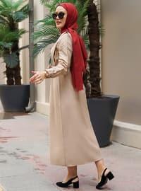 Mink - Point Collar - Unlined - Modest Dress