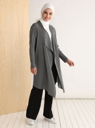 - Shawl Collar - Cotton - Cardigan - Tavin