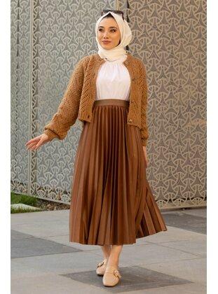 Camel - Skirt - GİZCE