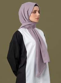 Lilac - Geometric - Jacquard - Cotton - Shawl