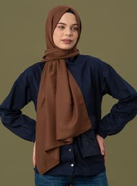 Brown - Printed - Cotton - Shawl