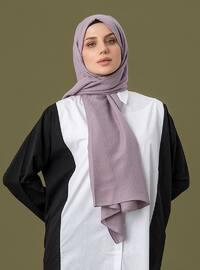 Lilac - Printed - Cotton - Shawl