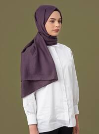 Purple - Printed - Cotton - Shawl